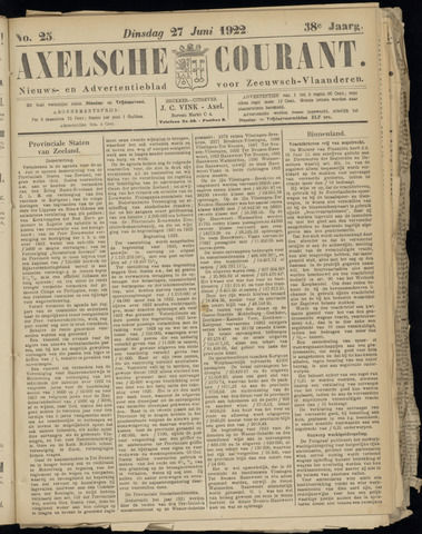 Axelsche Courant 1922-06-27