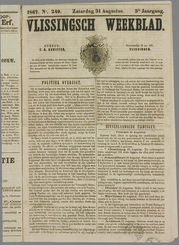 Vlissings Weekblad 1867-08-31