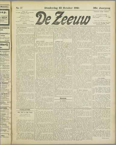 De Zeeuw. Christelijk-historisch nieuwsblad voor Zeeland 1921-10-13
