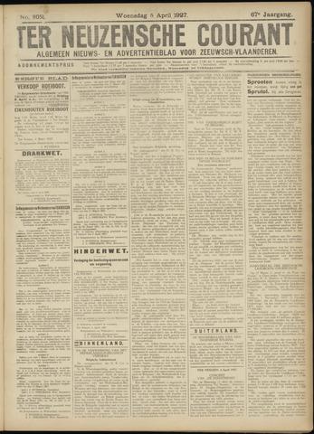 Ter Neuzensche Courant. Algemeen Nieuws- en Advertentieblad voor Zeeuwsch-Vlaanderen / Neuzensche Courant ... (idem) / (Algemeen) nieuws en advertentieblad voor Zeeuwsch-Vlaanderen 1927-04-06