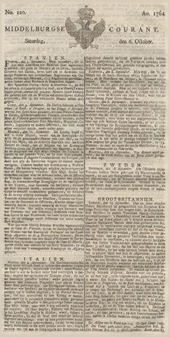 Middelburgsche Courant 1764-10-06