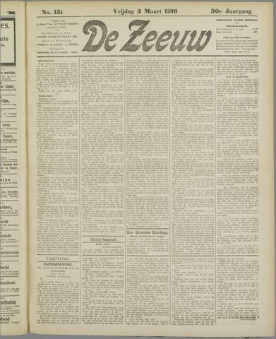 De Zeeuw. Christelijk-historisch nieuwsblad voor Zeeland 1916-03-03