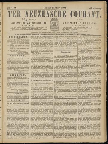 Ter Neuzensche Courant. Algemeen Nieuws- en Advertentieblad voor Zeeuwsch-Vlaanderen / Neuzensche Courant ... (idem) / (Algemeen) nieuws en advertentieblad voor Zeeuwsch-Vlaanderen 1903-03-24