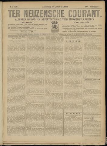 Ter Neuzensche Courant. Algemeen Nieuws- en Advertentieblad voor Zeeuwsch-Vlaanderen / Neuzensche Courant ... (idem) / (Algemeen) nieuws en advertentieblad voor Zeeuwsch-Vlaanderen 1920-10-16
