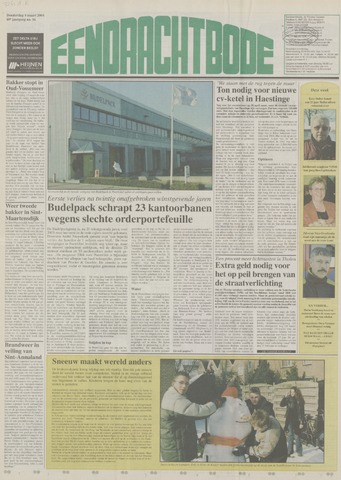 Eendrachtbode (1945-heden)/Mededeelingenblad voor het eiland Tholen (1944/45) 2004-03-04