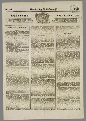 Goessche Courant 1849-02-22