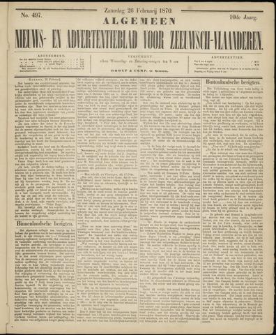 Ter Neuzensche Courant. Algemeen Nieuws- en Advertentieblad voor Zeeuwsch-Vlaanderen / Neuzensche Courant ... (idem) / (Algemeen) nieuws en advertentieblad voor Zeeuwsch-Vlaanderen 1870-02-26
