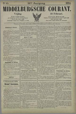 Middelburgsche Courant 1884-02-22