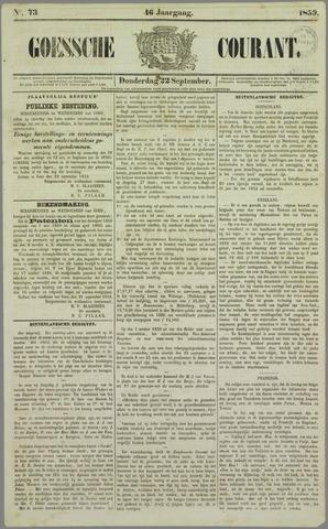 Goessche Courant 1859-09-22