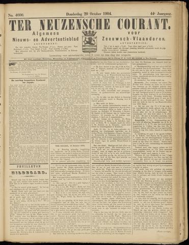 Ter Neuzensche Courant. Algemeen Nieuws- en Advertentieblad voor Zeeuwsch-Vlaanderen / Neuzensche Courant ... (idem) / (Algemeen) nieuws en advertentieblad voor Zeeuwsch-Vlaanderen 1904-10-20