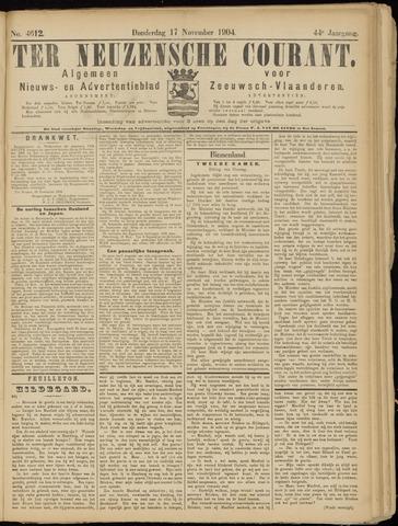 Ter Neuzensche Courant. Algemeen Nieuws- en Advertentieblad voor Zeeuwsch-Vlaanderen / Neuzensche Courant ... (idem) / (Algemeen) nieuws en advertentieblad voor Zeeuwsch-Vlaanderen 1904-11-17