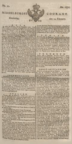 Middelburgsche Courant 1771-02-14