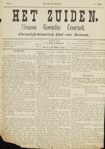 Het Zuiden, Christelijk-historisch blad 1885-10-17