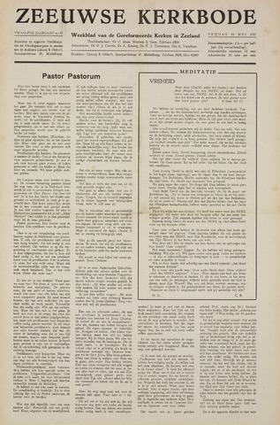 Zeeuwsche kerkbode, weekblad gewijd aan de belangen der gereformeerde kerken/ Zeeuwsch kerkblad 1957-05-10