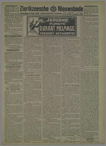 Zierikzeesche Nieuwsbode 1923-09-19