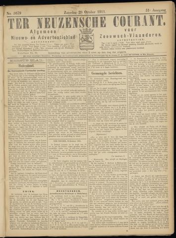 Ter Neuzensche Courant. Algemeen Nieuws- en Advertentieblad voor Zeeuwsch-Vlaanderen / Neuzensche Courant ... (idem) / (Algemeen) nieuws en advertentieblad voor Zeeuwsch-Vlaanderen 1911-10-28
