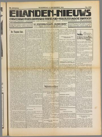Eilanden-nieuws. Christelijk streekblad op gereformeerde grondslag 1939-12-06