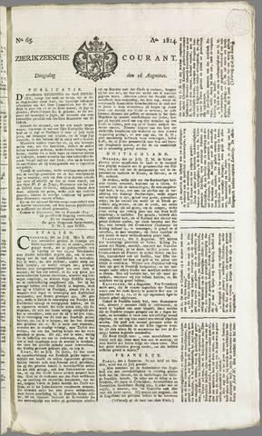 Zierikzeesche Courant 1814-08-16