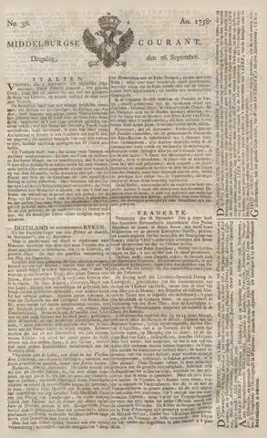 Middelburgsche Courant 1758-09-26