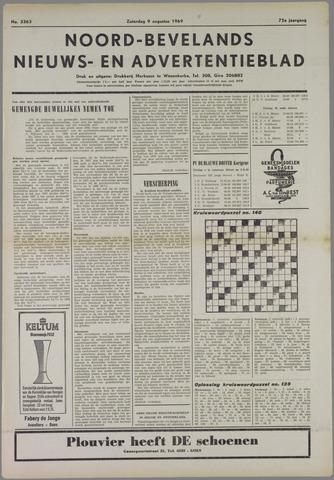 Noord-Bevelands Nieuws- en advertentieblad 1969-08-09