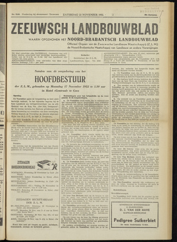Zeeuwsch landbouwblad ... ZLM land- en tuinbouwblad 1952-11-22