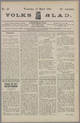 Volksblad 1922-03-22