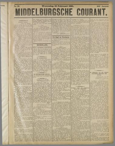Middelburgsche Courant 1921-02-16