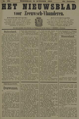 Nieuwsblad voor Zeeuwsch-Vlaanderen 1900-10-31