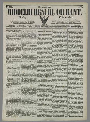 Middelburgsche Courant 1891-09-15