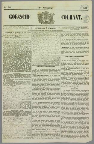 Goessche Courant 1857-10-01