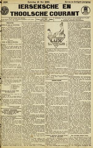 Ierseksche en Thoolsche Courant 1922-05-13