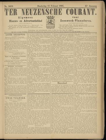 Ter Neuzensche Courant. Algemeen Nieuws- en Advertentieblad voor Zeeuwsch-Vlaanderen / Neuzensche Courant ... (idem) / (Algemeen) nieuws en advertentieblad voor Zeeuwsch-Vlaanderen 1897-02-11