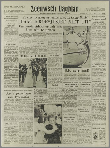 Zeeuwsch Dagblad 1959-09-22