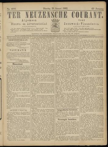 Ter Neuzensche Courant. Algemeen Nieuws- en Advertentieblad voor Zeeuwsch-Vlaanderen / Neuzensche Courant ... (idem) / (Algemeen) nieuws en advertentieblad voor Zeeuwsch-Vlaanderen 1902-01-28