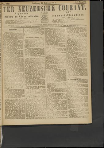 Ter Neuzensche Courant. Algemeen Nieuws- en Advertentieblad voor Zeeuwsch-Vlaanderen / Neuzensche Courant ... (idem) / (Algemeen) nieuws en advertentieblad voor Zeeuwsch-Vlaanderen 1914-02-12
