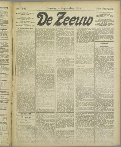 De Zeeuw. Christelijk-historisch nieuwsblad voor Zeeland 1919-09-09