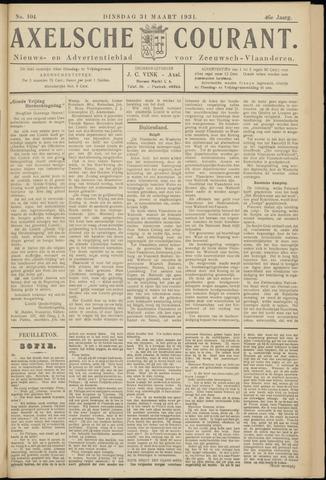 Axelsche Courant 1931-03-31