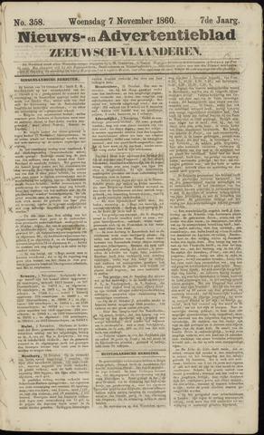 Ter Neuzensche Courant. Algemeen Nieuws- en Advertentieblad voor Zeeuwsch-Vlaanderen / Neuzensche Courant ... (idem) / (Algemeen) nieuws en advertentieblad voor Zeeuwsch-Vlaanderen 1860-11-07
