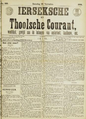 Ierseksche en Thoolsche Courant 1891-11-28