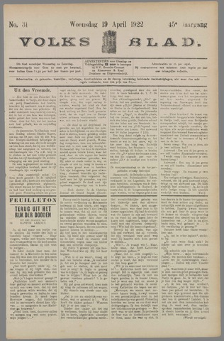 Volksblad 1922-04-19