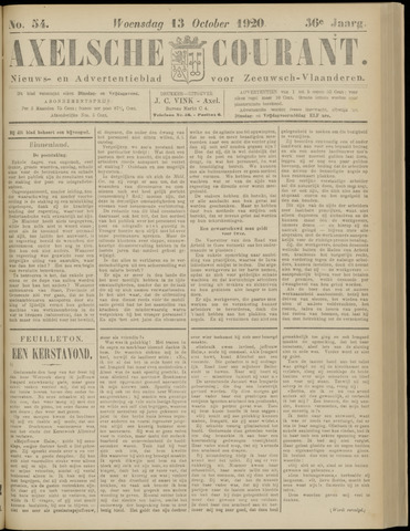 Axelsche Courant 1920-10-13