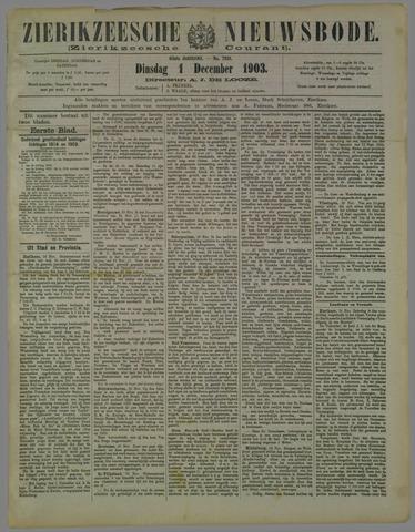 Zierikzeesche Nieuwsbode 1903-12-01