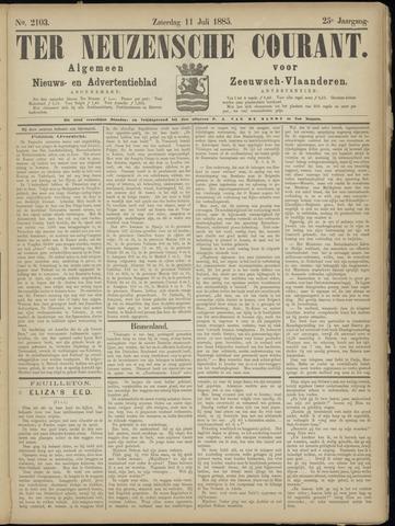 Ter Neuzensche Courant. Algemeen Nieuws- en Advertentieblad voor Zeeuwsch-Vlaanderen / Neuzensche Courant ... (idem) / (Algemeen) nieuws en advertentieblad voor Zeeuwsch-Vlaanderen 1885-07-11