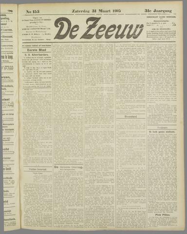 De Zeeuw. Christelijk-historisch nieuwsblad voor Zeeland 1917-03-31