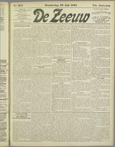 De Zeeuw. Christelijk-historisch nieuwsblad voor Zeeland 1920-07-29