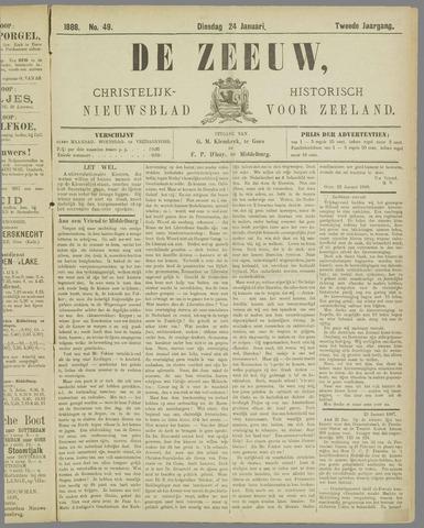 De Zeeuw. Christelijk-historisch nieuwsblad voor Zeeland 1888-01-24