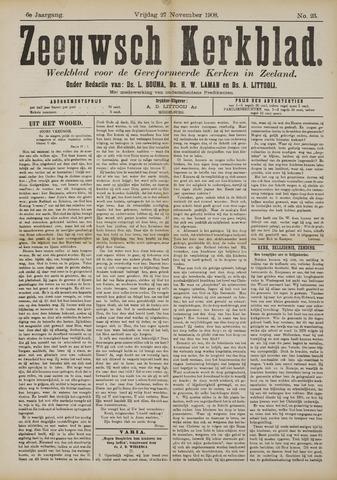 Zeeuwsche kerkbode, weekblad gewijd aan de belangen der gereformeerde kerken/ Zeeuwsch kerkblad 1908-11-27