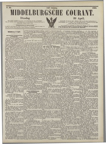 Middelburgsche Courant 1902-04-22