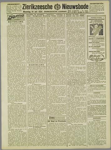 Zierikzeesche Nieuwsbode 1924-07-14