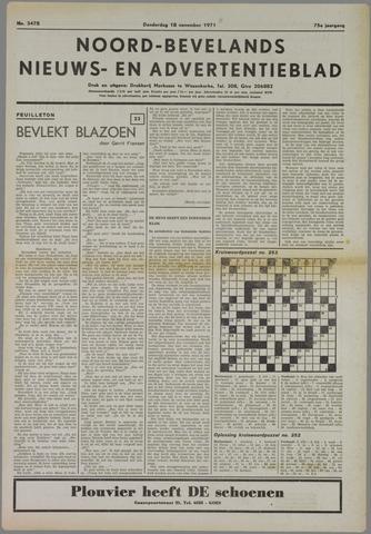 Noord-Bevelands Nieuws- en advertentieblad 1971-11-18